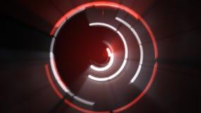 Gloeiende lichte cirkels die futuristisch beeld roteren Stock Afbeeldingen