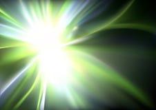 Gloeiende Lichte Stralenachtergrond royalty-vrije illustratie