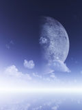 Gloeiende maan Royalty-vrije Stock Afbeelding