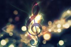 Gloeiende muziekachtergrond Stock Afbeeldingen