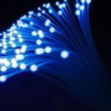 Gloeiende optische vezelkabel of vezeloptica Royalty-vrije Stock Afbeeldingen