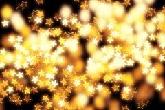 Gloeiende sterren en lichten stock fotografie