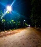 Gloeiende stille lange weg van het leven stock foto's