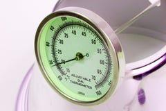 Gloeiende thermometer royalty-vrije stock fotografie