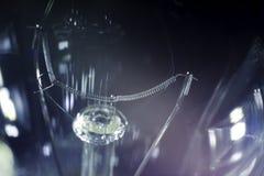 Gloeilamp in dark Royalty-vrije Stock Foto