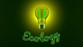 Gloeilamp en Ecologie royalty-vrije illustratie