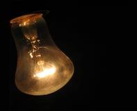 Gloeilamp. Het Gloeit, Stoffige & Warme Geel. Royalty-vrije Stock Afbeeldingen