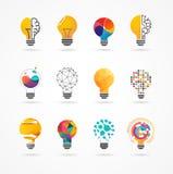 Gloeilamp - idee, creatief, technologiepictogrammen royalty-vrije illustratie