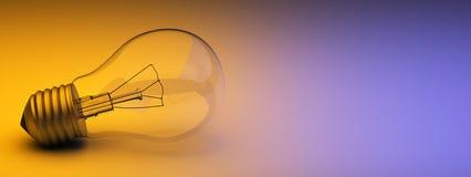 Gloeilamp op linkerkant. vector illustratie