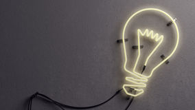 Gloeilampen gestalte gegeven neonlicht Stock Foto