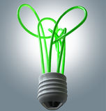 Gloeilampen Groene Energie Flourescent vector illustratie