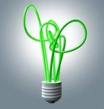 Gloeilampen Groene Energie Flourescent royalty-vrije illustratie