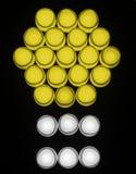 Gloeilampen met abstract vormpictogram Stock Afbeeldingen
