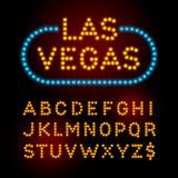 Gloeilampendoopvont Vector alfabet stock illustratie