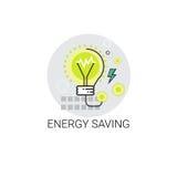 Gloeilampenenergie - besparingspictogram stock illustratie