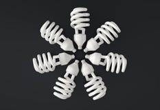 Gloeilampenwiel, 3D Illustratie stock illustratie