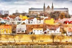 Gloeshaugen, Trondheim stockbilder