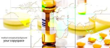 Glogab medicine collage Stock Photography