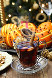 Glogg, scandinavian mulled wine Stock Photo