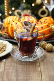 Glogg, scandinavian mulled wine Stock Photography