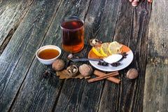 Glogg, vin chaud scandinave image libre de droits