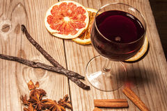 Glogg in wine glass Royalty Free Stock Photo