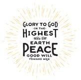 Gloire à Dieu dans le plus haut Photos libres de droits