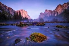 Gloire de matin dans Yosemite images libres de droits