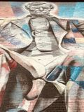 GLOIRE PRÉSIDENTIELLE - une peinture murale colorée du Président Abraham Lincoln - LEXINGTON - KENTUCKY photographie stock