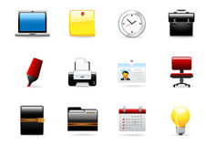 Glomelo Icon Series - Office #1. Office # 1 Icon Set - Part Of Glomelo Icon series Royalty Free Stock Images