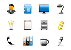 Glomelo Icon series - Office # 2 Royalty Free Stock Photos
