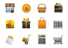 Glomelo Icon Series - Shopping. Shopping Icon Set - Part Of Glomelo Icon Series Stock Photos