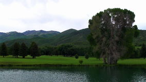 Gloo mein Golfplatz stock footage