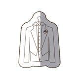 Gloom elegant suit icon Stock Image