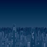 Gloomiest Dark City. Vector Image Royalty Free Stock Photography