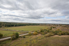 Gloomy autumn landscape Stock Photos