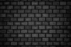 Gloomy background, black brick wall of dark stone texture Royalty Free Stock Photography