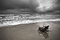 Gloomy beach Stock Photography