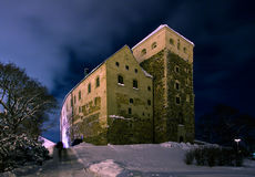 Gloomy Castle in Turku Stock Image