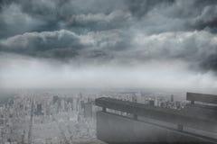 Gloomy city Royalty Free Stock Image