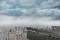 Gloomy city Stock Photography