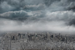 Gloomy city Stock Images