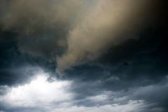 Gloomy clouds royalty free stock photography