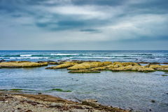 Gloomy day at Chiba coast, Japan Stock Image