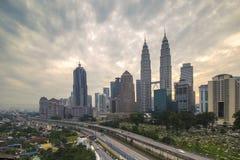Gloomy Day for Kuala Lumpur. This shot was taken at Kampung Baru Apartment nearby LRT station of Kampung Baru Stock Photos