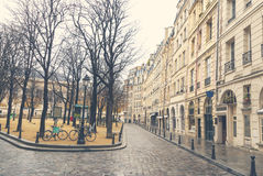 Gloomy day in Paris Stock Photos