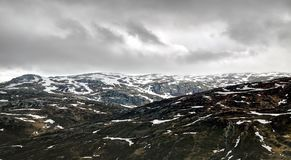 Gloomy day in Norway Royalty Free Stock Photography