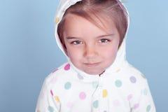 Gloomy kid girl Stock Photo
