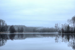 Gloomy lake Royalty Free Stock Image