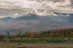 Gloomy landscape in Crimean mountains Stock Photography